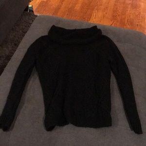 Black cowl neck sweater